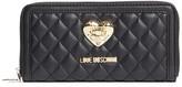Love Moschino Quilted Zip Wallet