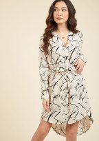 Do You Coffee? Shirt Dress in Marble in XS