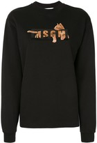 MSGM Cat Logo-Print Sweatshirt