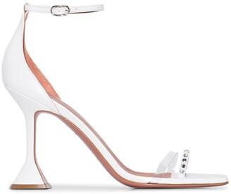 Amina Muaddi Oya 95mm crystal sandals