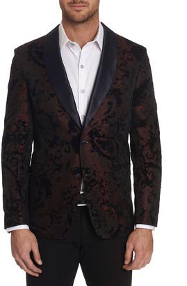 Robert Graham Men's Chatsworth Textured Shawl-Lapel Sport Jacket w/ Contrast Reverse Collar