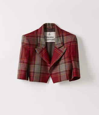 Vivienne Westwood Cropped Jacket Red Tartan
