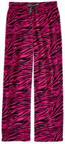 Total Girl Pink Zebra-Print Fleece Pajama Pants - Girls 4-16