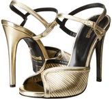 Just Cavalli Laminated Leather Open Toe Heels High Heels