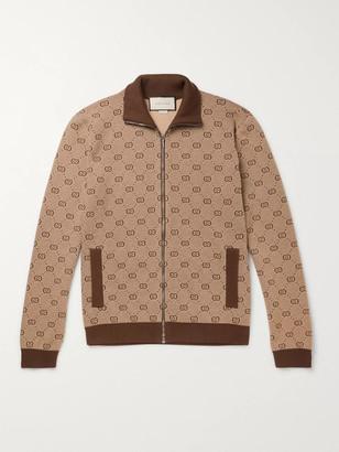 Gucci Logo-Jacquard Wool and Cotton-Blend Track Jacket - Men - Brown