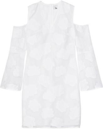 Iris & Ink Cold-shoulder Fil Coupe Mini Dress