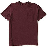 Roundtree & Yorke Soft-Washed Solid Crewneck Pocket Tee