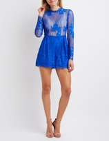 Charlotte Russe Lace Open Back Romper