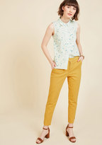 ModCloth Delighted Foresight Pants in Curry in 1X