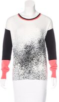 Karen Millen Splatter Print Long Sleeve Sweater