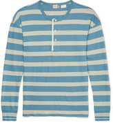 Levi's Vintage Clothing - 1920s Sunset Striped Cotton And Linen-blend Henley T-shirt