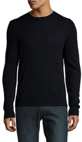Prada Cashmere Solid Ribbed Crewneck Sweater