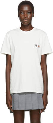 MAISON KITSUNÉ Off-White Double Fox Head T-Shirt