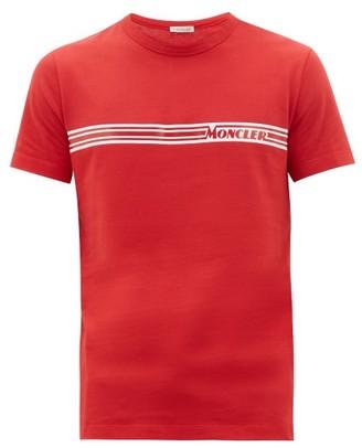 Moncler Printed-logo Cotton-jersey T-shirt - Red