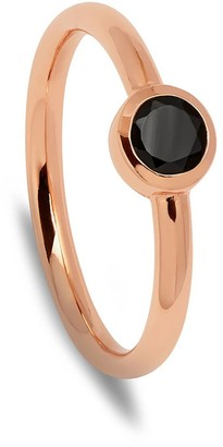 Ring Black Curio Stud Stacker Spinel