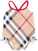Burberry new classic check swimsuit - kids - Polyamide/Spandex/Elastane - 6 mth