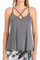 Olivaceous Criss-Cross Strappy Tank