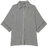 Vince Camuto Striped Elbow-sleeve Shirt