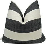 One Kings Lane Vintage Black & White Linen Pillow, 24x24