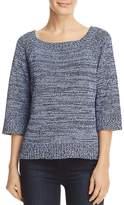 Three Dots Marled Side Tie Sweater