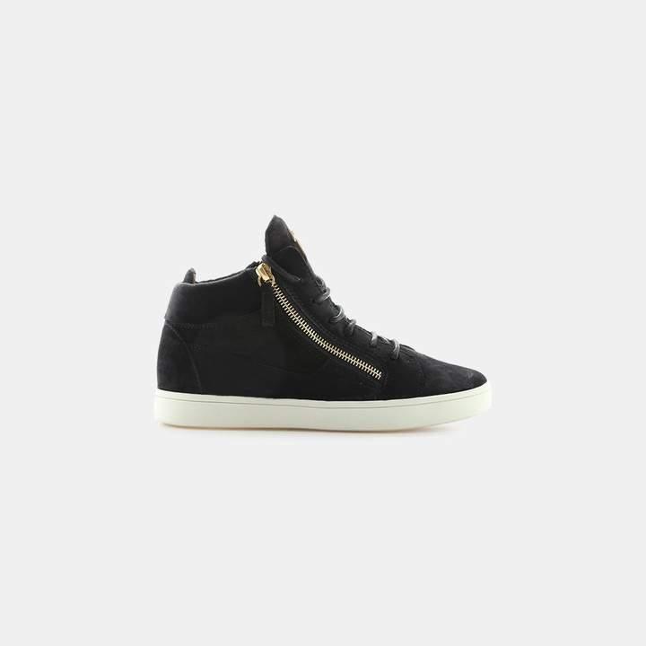 Giuseppe Zanotti Velour Dual Zipper Velvet Sneaker