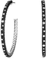 David Yurman Midnight Mélange Large Hoop Earrings with Diamonds