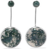 Pamela Love Agnes Silver Agate Earrings