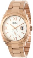 A Line a_line Women's AL-80014-RG-22 Dashuri Light Dial Rose Gold Ion-Plated Stainless Steel Watch
