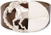 Maison Margiela silver horse buckle belt - men - Leather - 90
