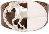 Maison Margiela silver horse buckle belt