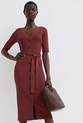 Witchery Belted Knit Dress