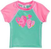 Swim Time Flamingo & Seahorse Rashguard Swim Top, Baby Girls (0-24 months)