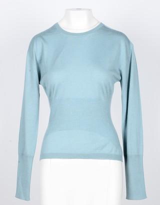 Lamberto Losani Sky Blue Cashmere and Silk Women's Sweater