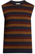 Oliver Spencer Ola Striped Wool-blend Knit Tank Top