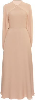 Valentino Cape-Effect Silk Midi Dress