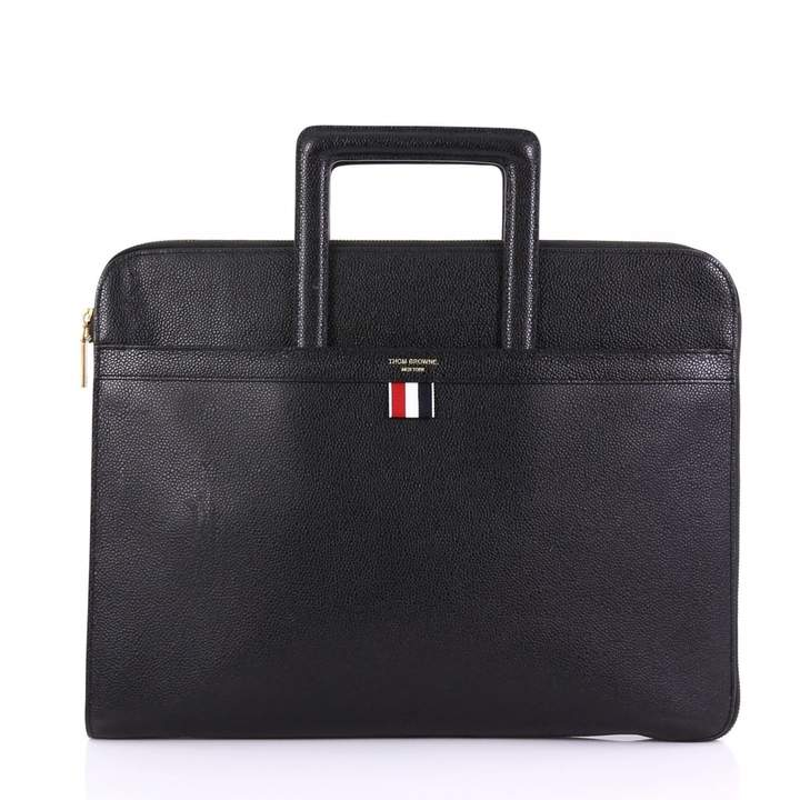 Thom Browne Black Leather Bag