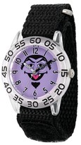 Sesame Street Boys' Clear Plastic Time Teacher Watch - Black
