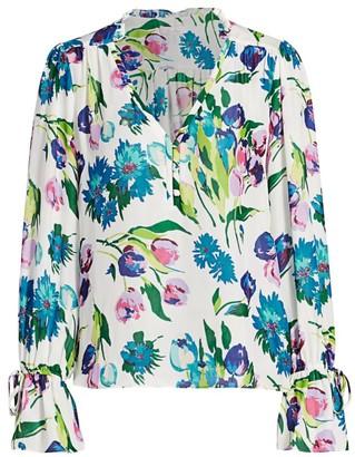 Parker Cassidy Floral Silk Blouse