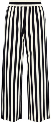 Alice + Olivia Benny Striped Cady Wide-leg Pants
