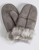 Marks and Spencer Fur Mitten Gloves