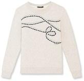 Petit Bateau Womens embroidered sweatshirt