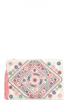 Quiz White Aztec Embroidery Bag