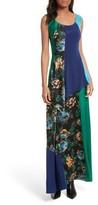Diane von Furstenberg Women's Double Layer Silk Maxi Dress