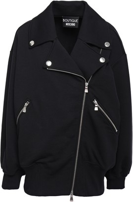 Moschino French Cotton-terry Biker Jacket