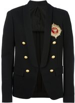 Balmain logo badge blazer