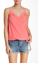 Amanda Uprichard Double V Sleeveless Silk Blouse