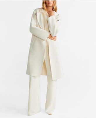 MANGO Hooded Wool Coat