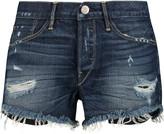 3x1 Distressed denim shorts