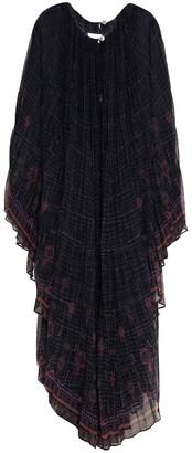 Camilla Lace-paneled Crystal-embellished Printed Chiffon Maxi Dress