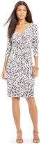 Lauren Ralph Lauren Petite Floral-Print Surplice Jersey Dress